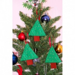 Yılbaşı Ağaç Süsü Üçlü Çam Ağacı