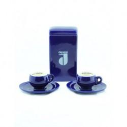 2 Cup Dark Blue Coffee