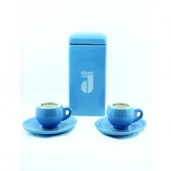 2'li Mavi Kahve Fincanı