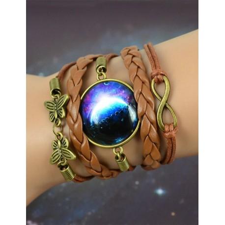 Galaxy White Light Leather Bracelet