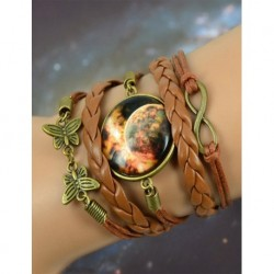 Galaxy Red Leather Bracelet