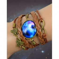 Galaxy Blue Leather Bracelet
